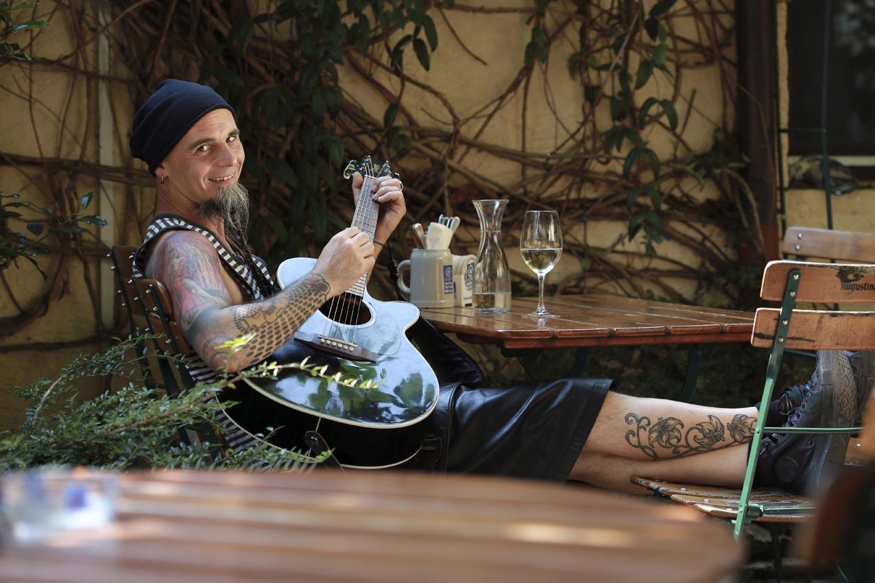 Musiker Foto Portrait Gitarre